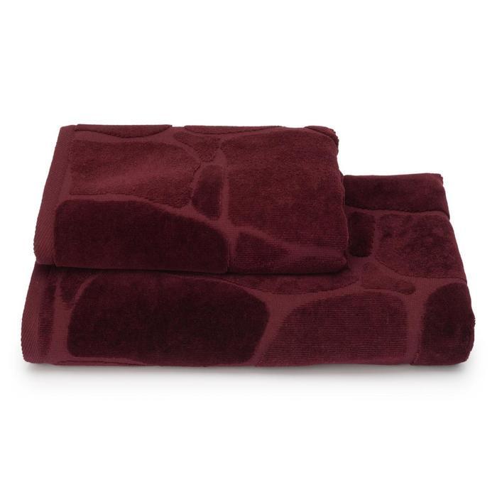Полотенце махровое Arenaria ПЦС-3501-4479 цв.19-1725 70х130 см, бордовый, хл100%, 460г/м2