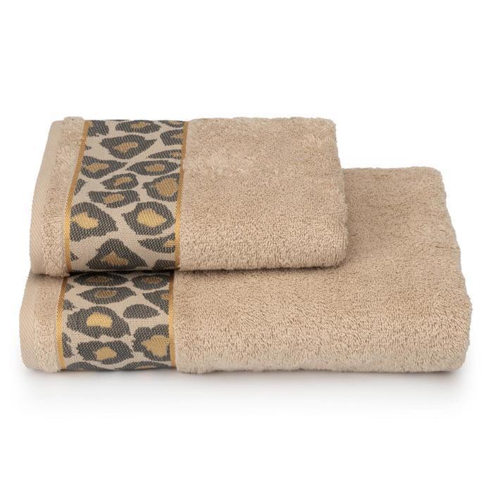 Полотенце махровое Leopardo ПЦ-3501-4478-2 цв.12-4301 70х130 см, бежевый, хл100%, 460г/м2