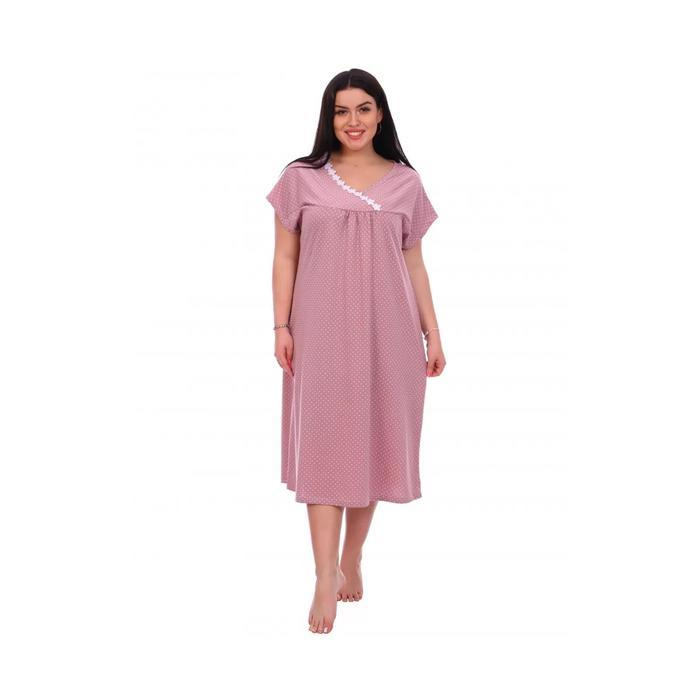 Сорочка женская «Пышечка» цвет тёмно-розовый, размер 56