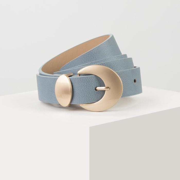 Ремень жен 05-01-01-01 Барбара, 2,8*0,2*110см, флотер, пряжка металл, голубой