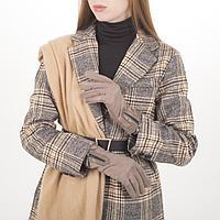 Перчатки жен, 23,5 см, утеплитель иск мех, манжет молния, бежевый, фото 1