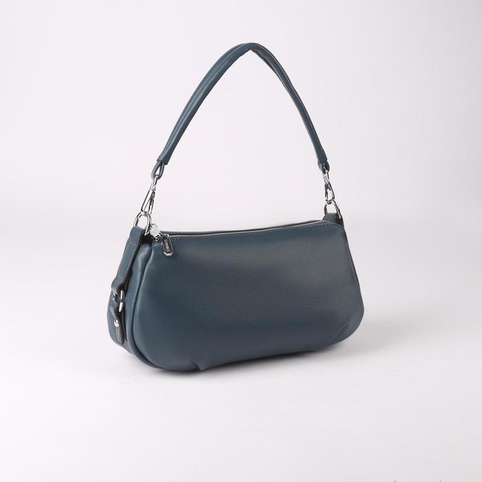 Сумка жен L-20101, 29*8*17, 2 отд на молнии, н/карман, синий
