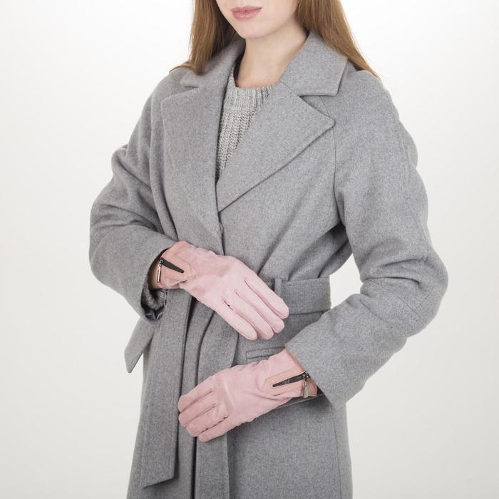 Перчатки жен, 23,5 см, утеплитель иск мех, манжет молния, розовый