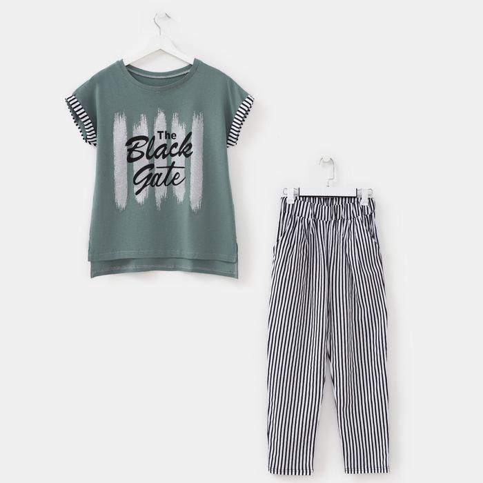 Комплект женский (футболка, брюки), цвет МИКС, размер 52