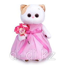 ЛИ-ЛИ в розовом платье с букетом