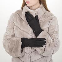 Перчатки жен, 23,5 см, безразмер, без утеплителя, манжет резинка, черный, фото 1