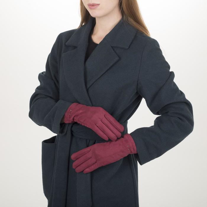 Перчатки жен, 23,5 см, утеплитель иск мех, классика, красный