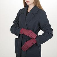 Перчатки жен, 23,5 см, утеплитель иск мех, классика, манжет резинка, красный, фото 1