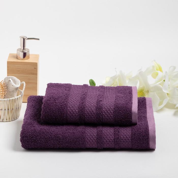 КМП в коробке DOGUS 50х90,70х130 см, фиолетовый, хлопок 100%, 450г/м2