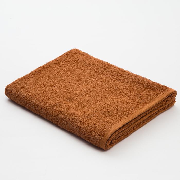 Полотенце махровое «Экономь и Я», 70х130 см, цвет молочный шоколад