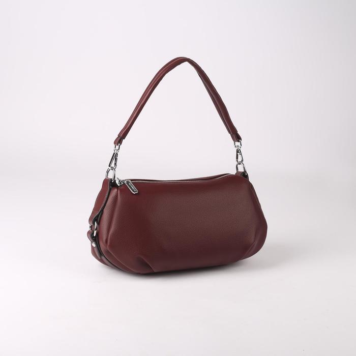 Сумка жен L-20101, 29*8*17, 2 отд на молнии, н/карман, бордовый