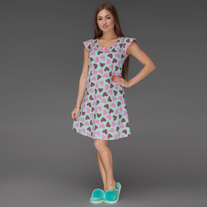 Сорочка женская, цвет ментоловый, размер 46