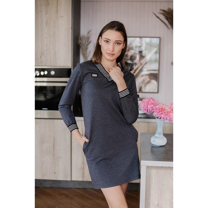 Платье женское, цвет антрацит, размер 50