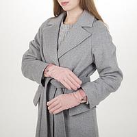 Перчатки жен, 23,5 см, утеплитель иск мех, манжет кожа, розовый, фото 1