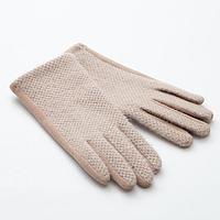"""Перчатки женские MINAKU """"Леди"""", размер 6,5, цвет бежевый, фото 1"""