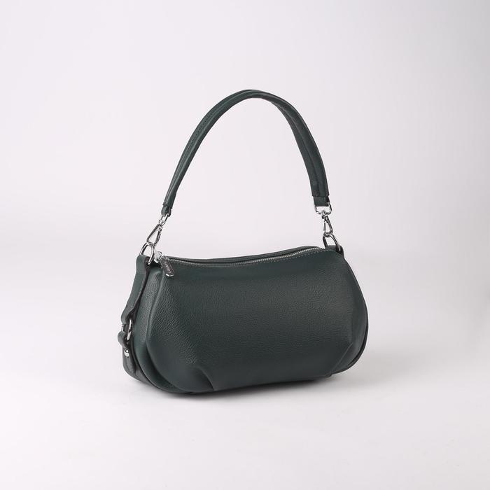 Сумка жен L-20101, 29*8*17, 2 отд на молнии, н/карман, зеленый
