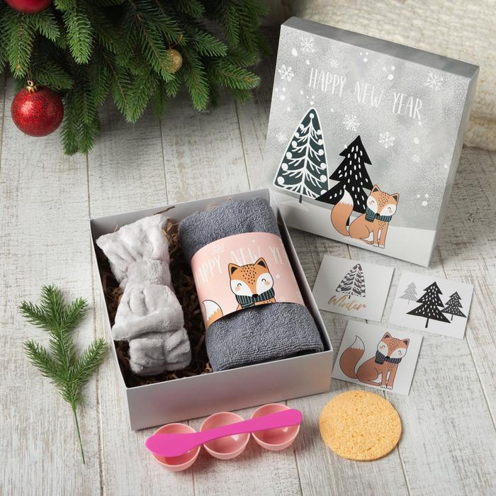 "Набор подарочный ""Happy new year"" полотенце и акс"