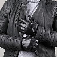 Перчатки мужские, размер 13, длина 24 см, подклад шерсть, цвет чёрный, фото 1