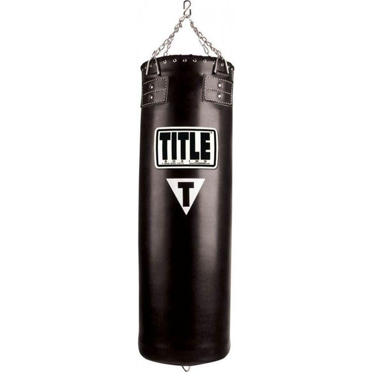 Боксерская груша TITLE кожа 150см
