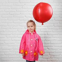 """Дождевик детский на кнопках с капюшоном """"Бабочка и цветы"""" р-р S, фото 1"""