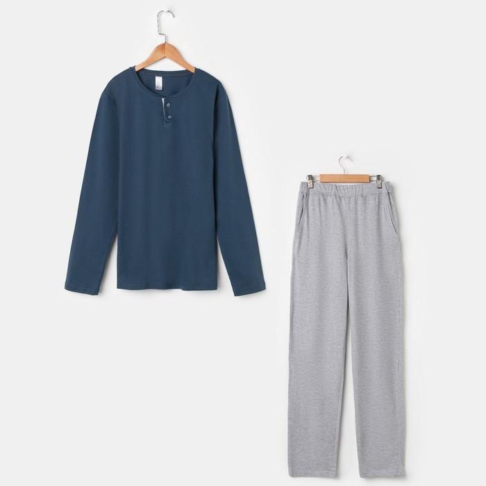 Костюм мужской (джемпер, брюки) «Эрик», цвет синий, размер 46