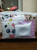 Детское постельное белье КПБ 17 предметов панда/совы