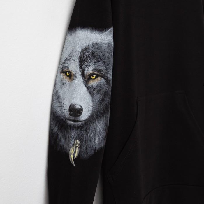 Худи мужское VOLK, цвет чёрный, размер 44 - фото 2