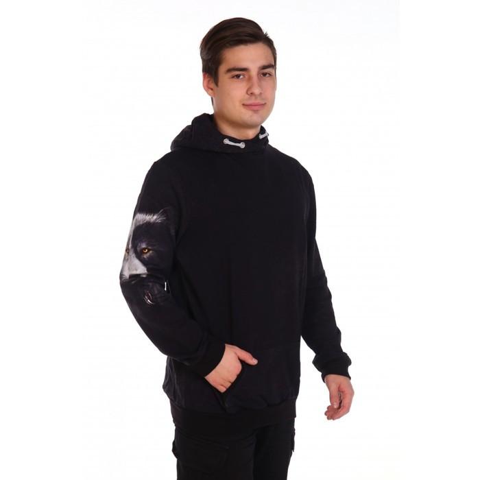 Худи мужское VOLK, цвет чёрный, размер 44 - фото 5
