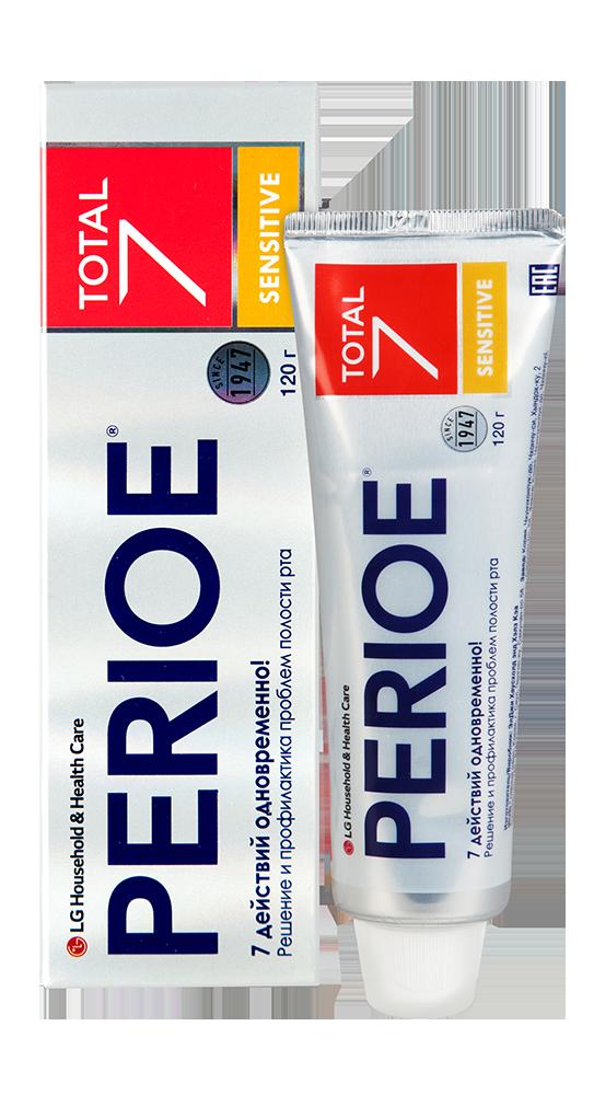 LG Perioe Total 7 SENSITIVE Зубная паста-гель для Чувствительной полости рта 120гр.