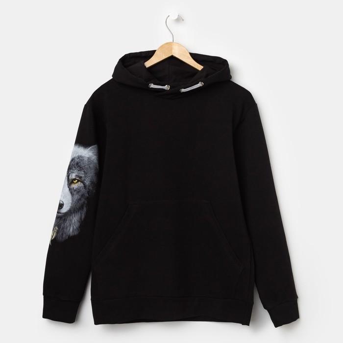 Худи мужское VOLK, цвет чёрный, размер 48