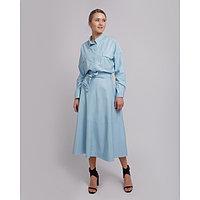 Юбка женская MINAKU: Leather look, цвет голубой, размер 42, фото 1