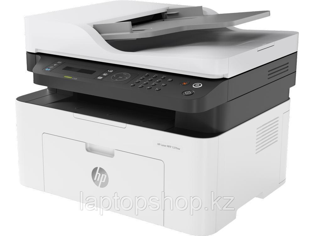 Многофункциональное устройство HP 4ZB84A HP Laser MFP 137fnw Printer (A4) , Printer/Scanner/Copier