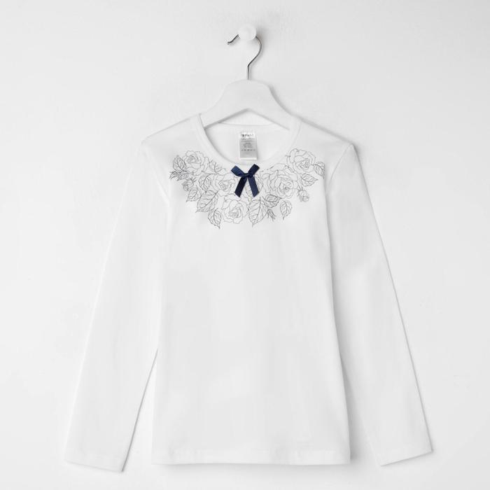 Блузка для девочки, цвет белый, рост 128 см