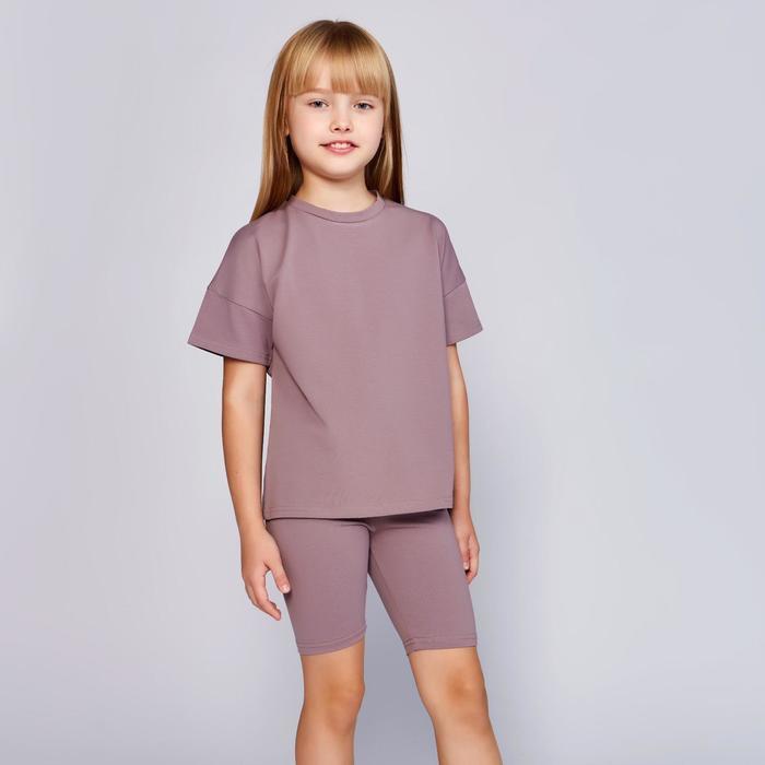 Футболка детская MINAKU:Basic line kids цвет серый, рост 104