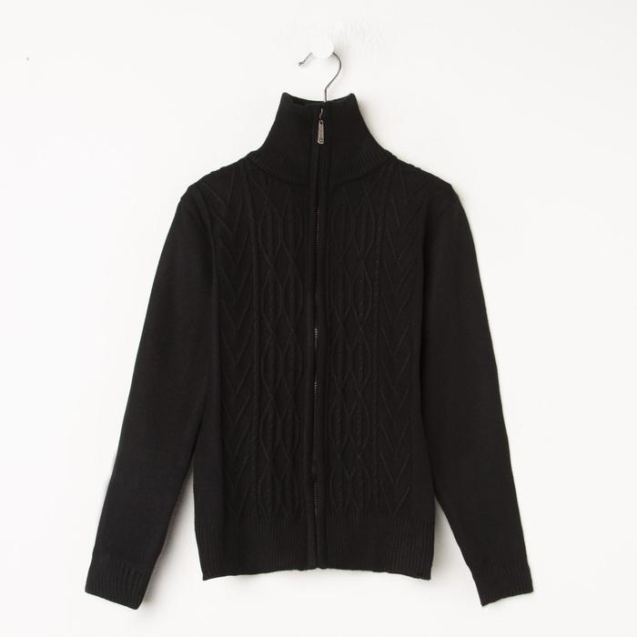 Джемпер для мальчика, цвет чёрный, рост 134 см