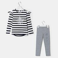 Комплект для девочки, цвет серый, рост 128 см, фото 1