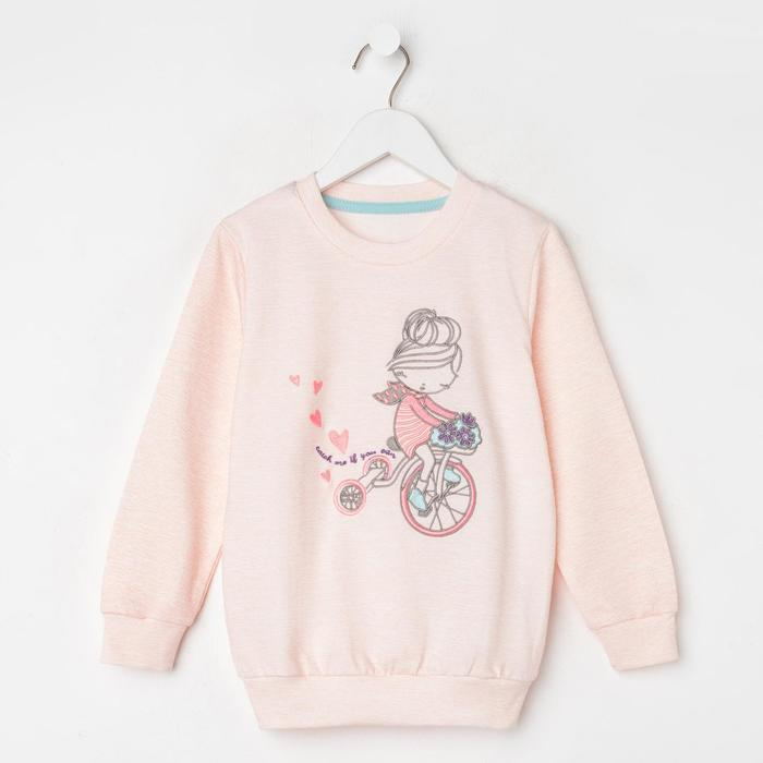 Свитшот для девочки, цвет розовый, рост 98 см