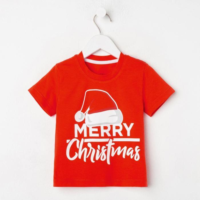 "Футболка детская KAFTAN ""Merry Christmas"" р.34 (122-128)"