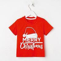 "Футболка детская KAFTAN ""Merry Christmas"" р.34 (122-128), фото 1"