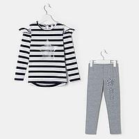 Комплект для девочки, цвет серый, рост 116 см, фото 1