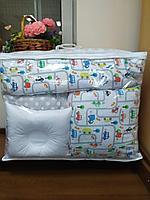 Детское постельное белье КПБ 17 предметов Машинки