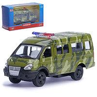 Машина металлическая «Микроавтобус военный», масштаб 1:50, инерция
