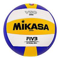 Мяч волейбольный Mikasa VSO2000, размер 5, PVC, бутиловая камера, машинная сшивка