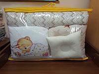 Детское постельное белье КПБ 17 предметов Мишка/бежевый