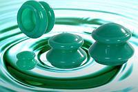 Банки для вакуумного массажа из силикона 4 шт.
