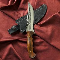 """Нож туристический """"Скорпион"""" вощеный орех, сталь 40х13"""