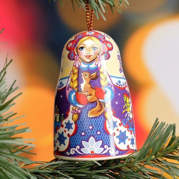 """Сувенир-колокольчик """"Снегурочка"""", керамика"""