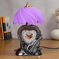 """Часы-светильник """"Сердце""""  с будильником, 1 АА, дискретный ход, циферблат 7.2х5.6 см, фото 1"""