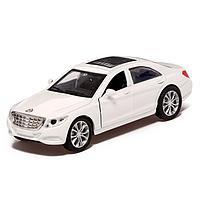 Машина металлическая «Престиж», 1:32, инерция, открываются двери, цвет белый, фото 1
