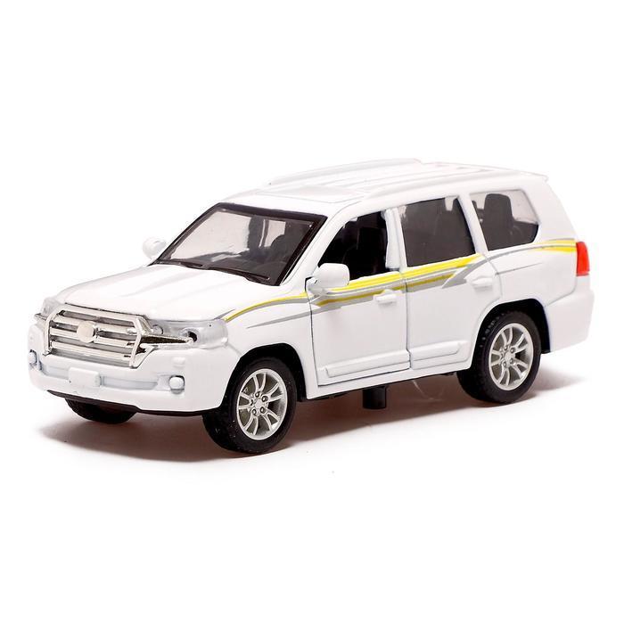 Машина металлическая «Джип», 1:32, инерция, открываются двери, цвет белый